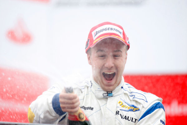 Autodromo di Monza, Monza, Italy 14th September.Sunday Race.  Davide Valsecchi (ITA, Durango) celebrates his victory on the podium. World Copyright: Glenn Dunbar/GP2 Series Media Service. ref: Digital Image _O9T7891