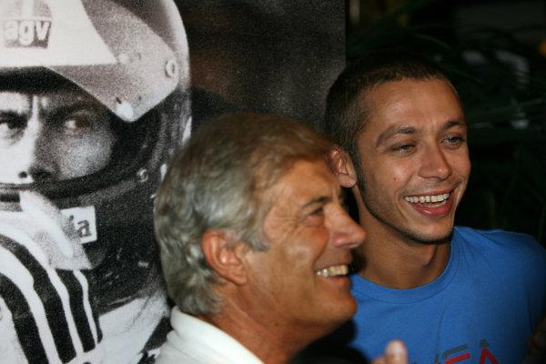 Misano, Misano Adriatico, Rimini, Italy 29th August 2008 Valentino Rossi with Giacomo AgostiniWorld Copyright: Martin Heath/LAT Photographicref: Digital Image BPI_Moto 5ofa