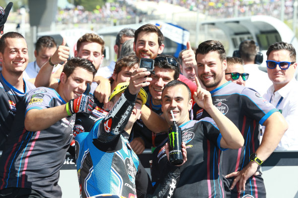 2017 Moto3 Championship - Round 4 Jerez, Spain Sunday 7 May 2017 Race winner Aron Canet, Estrella Galicia 0,0 World Copyright: Gold & Goose Photography/LAT Images ref: Digital Image 668711