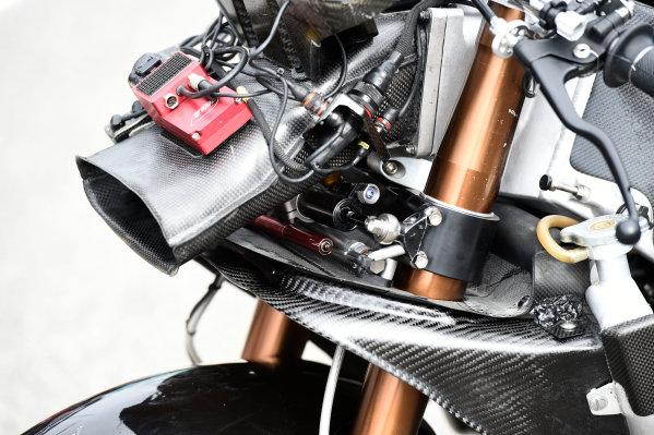 2017 Moto2 Championship - Round 16 Phillip Island, Australia. Thursday 19 October 2017 Xavi Vierge, Tech 3 Racing bike detail World Copyright: Gold and Goose / LAT Images ref: Digital Image 698226