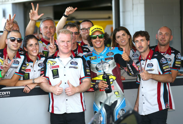 2017 Moto2 Championship - Round 12 Silverstone, Northamptonshire, UK. Sunday 27 August 2017 Franco Morbidelli, Marc VDS World Copyright: Gold and Goose / LAT Images ref: Digital Image 689737