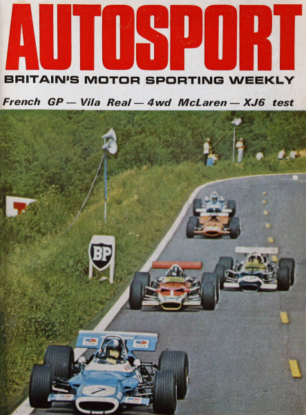 Cover of Autosport magazine, 11th July 1969