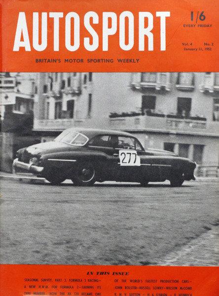 Cover of Autosport magazine, 11th January 1952
