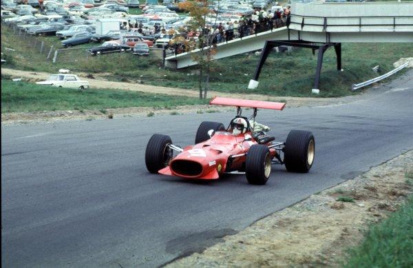 1968 Canadian Grand Prix.Mont-Tremblant, (St. Jovite), Quebec, Canada.20-22 September 1968.Chris Amon (Ferrari 312).Ref-68 CAN 63.World Copyright - LAT Photographic