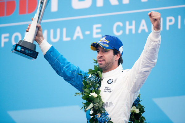 Antonio Felix da Costa (PRT), BMW I Andretti Motorsports celebrates victory on the podium