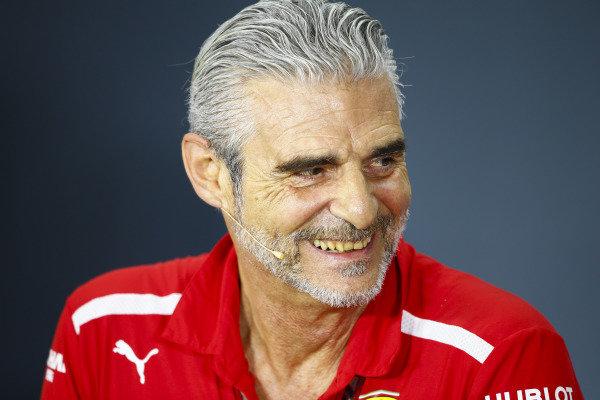 Maurizio Arrivabene, Team Principal, Ferrari, in the Friday press conference.