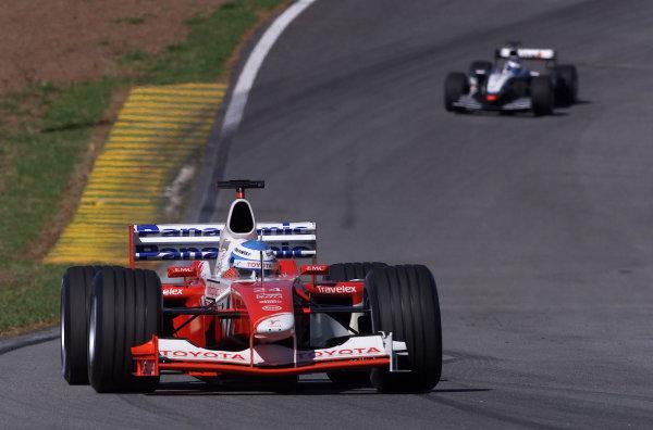2002 Brazilian Grand Prix - RaceInterlagos, Brazil. 31 March 2002Mika Salo (Toyota TF102).World Copyright: Pic Steve Etherington/LAT PhotographicRef: xxmb Digital Image Only