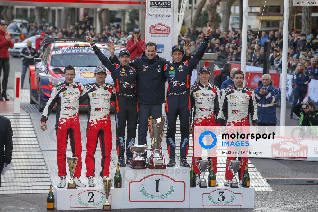 Thierry Neuville (BEL), Nicolas Gilsoul (BEL), Hyundai World Rally Team, Hyundai i20 Coupe WRC 2020, Sébastien Ogier (FRA), Julein Ingrassia (FRA), Toyota Gazoo Racing WRT, Toyota Yaris WRC 2020, Elfyn Evans (GB), Scott Martin (GB), Toyota Gazoo Racing WRT, Toyota Yaris WRC 2020