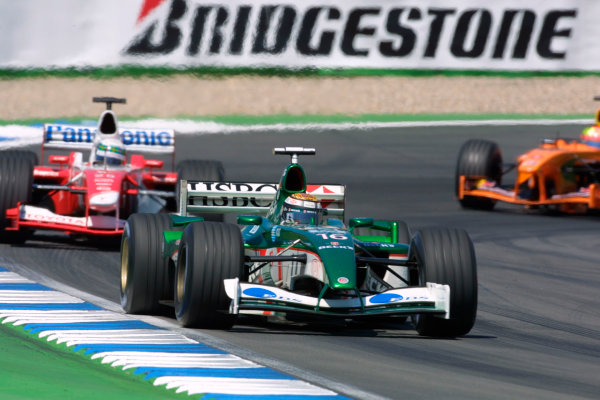 2002 German Grand Prix - Sunday RaceHockenheim, Germany. 28th July 2002.Eddie Irvine (Jaguar R3).World Copyright - LAT Photographicref: digital file