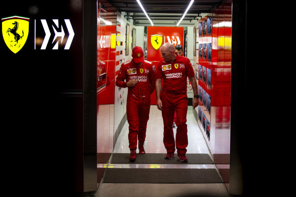 Mick Schumacher, Ferrari, leaves the garage