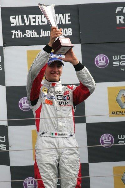 Andrea Caldarelli (ITA) SG Formula  2nd. Formula Renault Euro Cup, Silverstone, England. 07 June 2008.