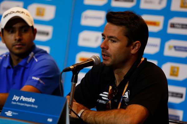 2014/2015 FIA Formula E Championship. Long Beach ePrix, Long Beach, California, United States of America. Friday 3 April 2015 Oriol Servia, Dragon Racing. Photo: Zak Mauger/LAT/Formula E ref: Digital Image _L0U6042