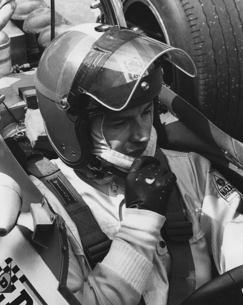 1969 Formula 1 World Championship. Jean-Pierre Beltoise (Matra MS80-Ford), portrait. World Copyright: LAT Photographic. Ref: B/W Print.