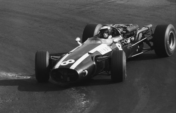 Jochen Rindt (AUT), who retired on lap 33 with a broken suspension, negotiates the hairpin with an armful of opposite lock.