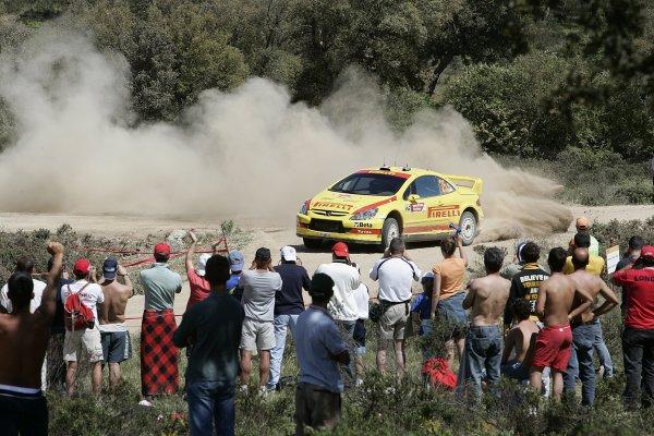 2006 FIA World Rally Championship.Round 7. 18th - 21st May 2006.Rally of Italy, Sardinia.Gigi Galli, Peugeot, action.World Copyright: McKlein/LAT