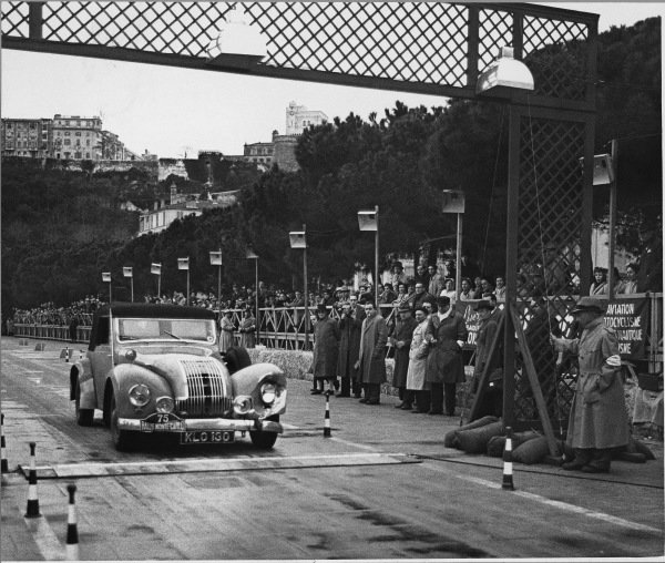 Monte Carlo, Monaco. 22nd January - 29th January 1950.Sidney Allard, action.World Copyright: LAT Photographic.Ref: Autocar Used Pic 3rd February 1950 Pg136.