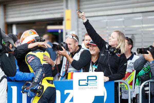 2014 GP2 Series Round 8. Spa-Francorchamps, Spa, Belgium. Sunday 24 August 2014. Felipe Nasr (BRA, Carlin)  Photo: Sam Bloxham/GP2 Series Media Service. ref: Digital Image _G7C7141