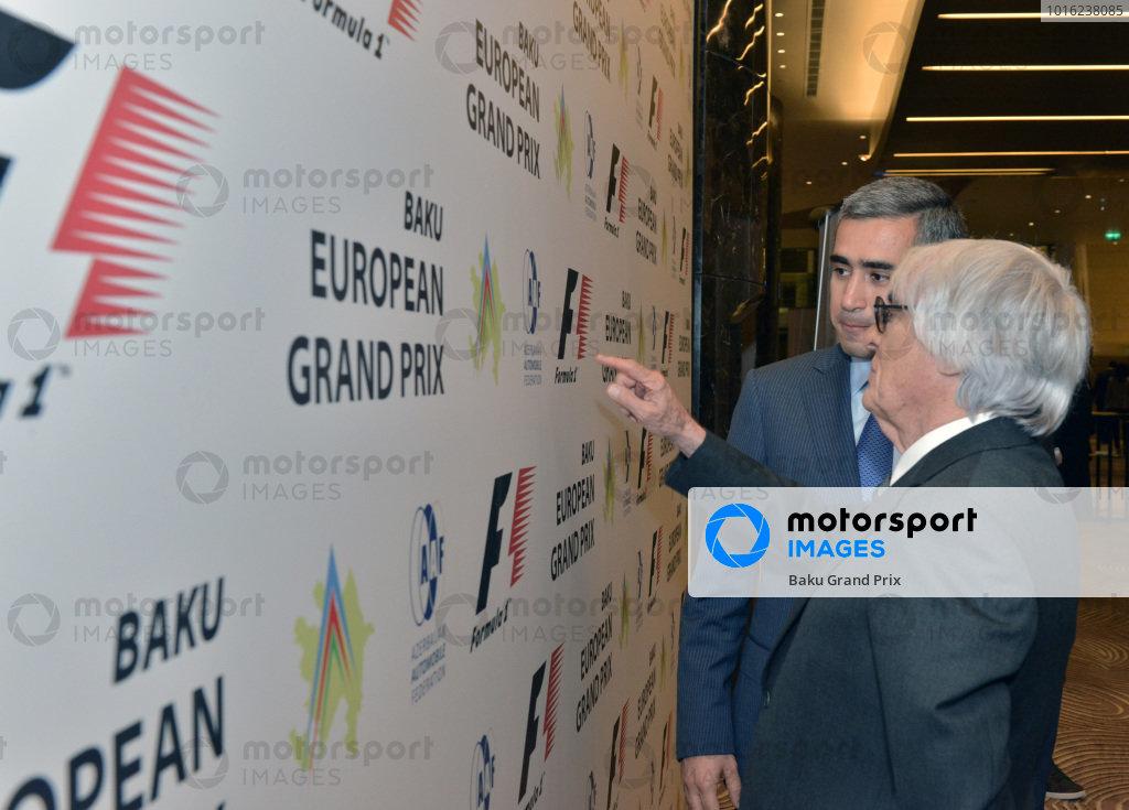 Baku European Grand Prix Street Circuit Press Event