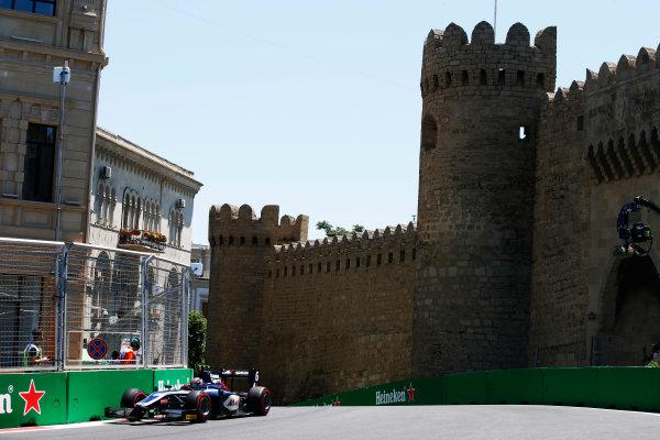 Baku City Circuit, Baku, Azerbaijan. Saturday 24 June 2017. Artem Markelov (RUS, RUSSIAN TIME)  World Copyright: Hone/LAT Images ref: Digital Image _ONY9658