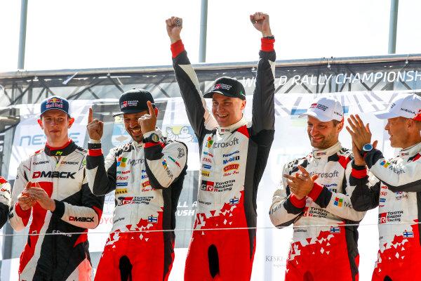 2017 FIA World Rally Championship, Round 09, Rally Finland / July 27 - 30, 2017, Esapekka Lappi, Toyota, podium, Worldwide Copyright: McKlein/LAT