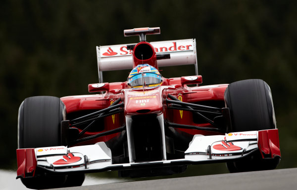 Spa-Francorchamps, Spa, Belgium 26th August 2011. Fernando Alonso, Ferrari F150° Italia. Action.  World Copyright: Steve Etherington/LAT Photographic ref: Digital Image SNE20776