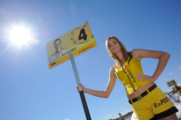 Round 9 - Valencia, Spain28th - 30th September 2012grid girlWorld Copyright:  XPB Images / LAT Photographicref: Digital Image 2375552_HiRes