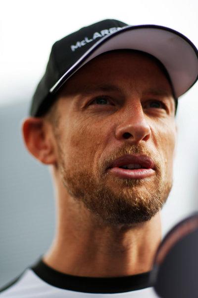 Autodromo Nazionale di Monza, Monza, Italy. Thursday 3 September 2015. Jenson Button, McLaren. World Copyright: Alastair Staley/LAT Photographic ref: Digital Image _R6T7769