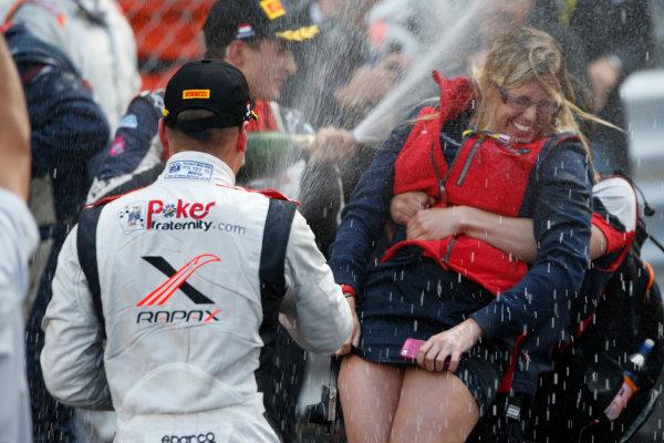 2013 GP2 Series. Round 4.  Monte Carlo, Monaco. 54th May 2013. Saturday Race. Stefano Coletti (MON, Rapax) celebrates his victory. World Copyright: Glenn Dunbar/GP2 Series Media Service. Ref: _89P2864