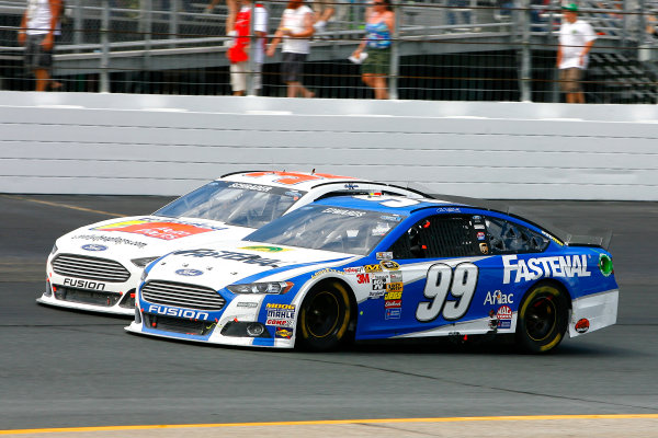 12-14 July, 2013, Loudon, New Hampshire USA Carl Edwards and Ken Schrader © 2013, Russell LaBounty LAT Photo USA .