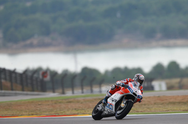 2017 MotoGP Championship - Round 14 Aragon, Spain. Friday 22 September 2017 Andrea Dovizioso, Ducati Team World Copyright: Gold and Goose / LAT Images ref: Digital Image 693601