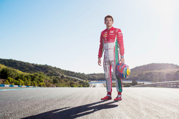 2017 FIA Formula 2 Round 10. Circuito de Jerez, Jerez, Spain. Saturday 7 October 2017. Charles Leclerc (MCO, PREMA Racing).  Photo: Zak Mauger/FIA Formula 2. ref: Digital Image _56I4082