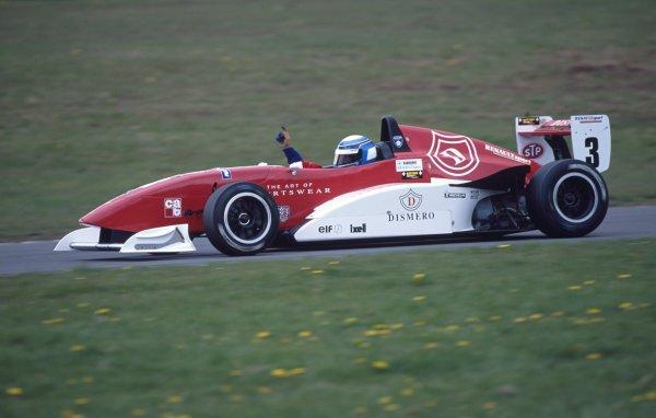 2000 Formula Renault Championship.Donington Park, England. 29th - 30th July 2000.Kimi Raikkonen, action.World Copyright: Jeff Bloxham/LAT Photographic.ref: 2000_FRDon_02