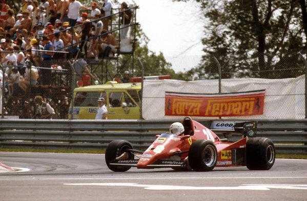 Montreal, Canada.10-12 June 1983.Rene Arnoux (Ferrari 126C2B) 1st position.Ref-83 CAN 10.World Copyright - LAT Photographic