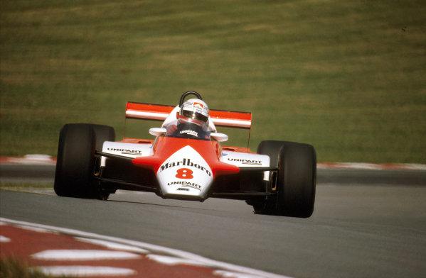 Brands Hatch, England.16-18 July 1982.Niki Lauda (McLaren MP4B Ford) 1st position.Ref-82 GB 24.World Copyright - LAT Photographic