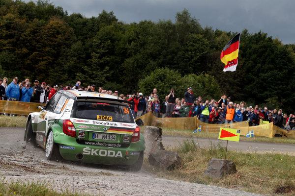 Round 09-Rallye Deutschland 23-26/8-2012.Sepp Wiegand, Skoda S2000, Action.Worldwide Copyright: McKlein/LAT