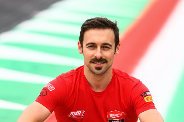 2017 Superbike World Championship - Round 5 Imola, Italy. Thursday 11 May 2017 Eugene Laverty, Milwaukee Aprilia World Superbike Team World Copyright: Gold and Goose Photography/LAT Images ref: Digital Image 669319