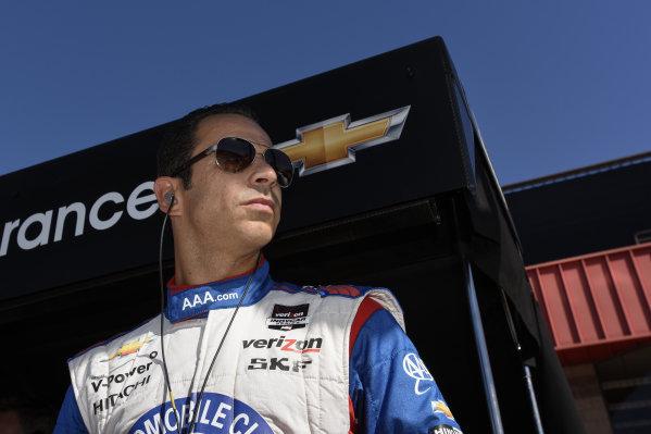 Helio Castroneves (BRA) Team Penske.Verizon IndyCar Series, Rd18, MAVTV 500, Auto Club Speedway, Fontana, USA, 29-30 August 2014.