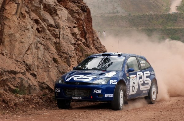 Markko Martin (EST) Ford Focus RS WRC 02World Rally Championship,  Acropolis Rally Shakedown. 13 June 2002.DIGITAL IMAGE
