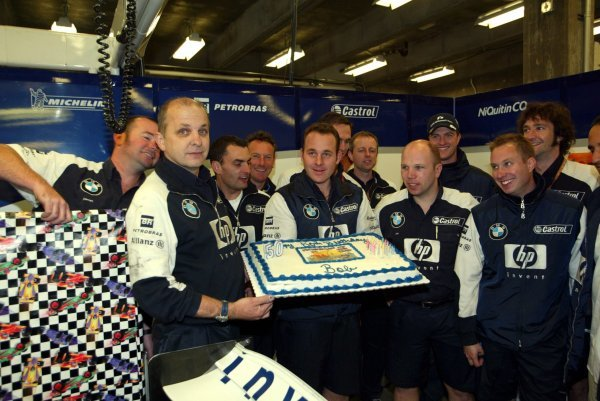 A 50th birthday celebration in the Williams garage.