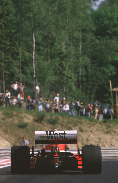 Spa-Francorchamps, Belgium.2 June 1985.Jonathan Palmer (Zakspeed 841). The race was cancelled after practice when the newly-laid track broke up.World Copyright - LAT Photographic