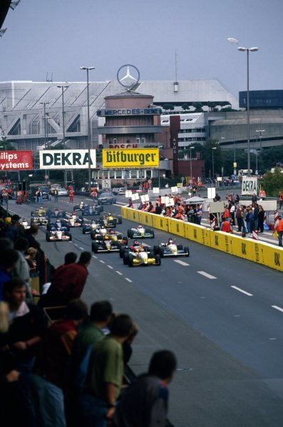 Race winner Jos Verstappen (NED) Opel Team WTS Dallara 393-Opel leads the field at the start of the race. 