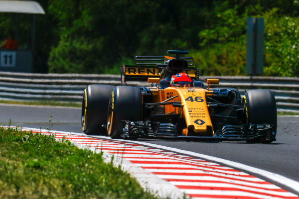Hungaroring, Budapest, Hungary.  Wednesday 02 August 2017. Robert Kubica, Renault R.S.17. World Copyright: Joe Portlock/LAT Images  ref: Digital Image _R3I6927