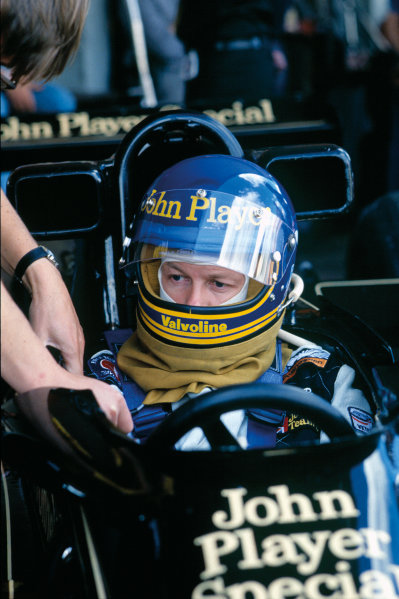 Buenos Aires, Argentina. 13th - 15th January 1978. Ronnie Peterson (Lotus 78-Ford), 5th position, portrait.  World Copyright: LAT Photographic. Ref: 78ARG13