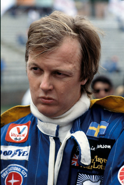 Ronnie Peterson (Lotus 79-Ford), portrait. World Copyright: LAT Photographic.Ref:  P3A 08.