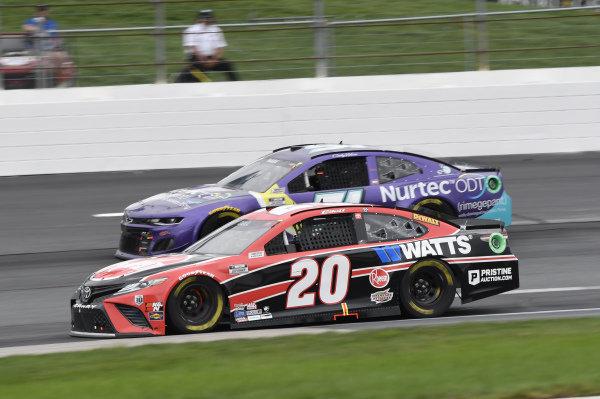 #20: Christopher Bell, Joe Gibbs Racing, Toyota Camry Rheem/Watts, #51: Cody Ware, Petty Ware Racing, Chevrolet Camaro Nurtec ODT