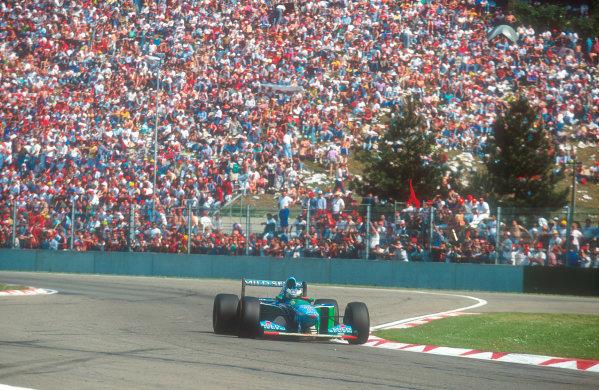 1994 San Marino Grand Prix.Imola, Italy.29/4-1/5 1994.Michael Schumacher (Benetton B194 Ford) 1st position.Ref-94 SM 11.World Copyright - LAT Photographic