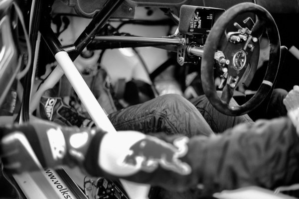 Volkswagen Polo R WRC cockpit and steering wheel at FIA World Rally Championship, Rd12, RAAC Rally de Espana, Preparations and Shakedown, Costa Daurada, Catalunya, Spain, 22 October 2015.