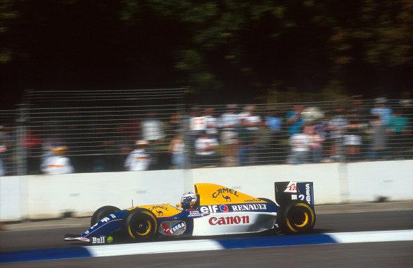 1993 Australian Grand Prix.Adelaide, Australia.5-7 November 1993.Alain Prost (Williams FW15C Renault) 2nd position in his last Grand Prix.Ref-93 AUS 12.World Copyright - LAT Photographic