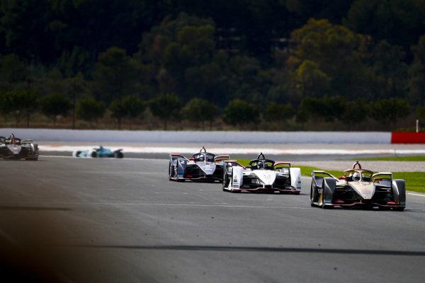 Jean-Eric Vergne (FRA), DS Techeetah, DS E-Tense FE20, Andre Lotterer (DEU), Tag Heuer Porsche, Porsche 99x Electric and Sam Bird (GBR), Envision Virgin Racing, Audi e-tron FE06