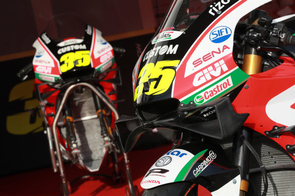 Bike of Cal Crutchlow, Team LCR Honda.